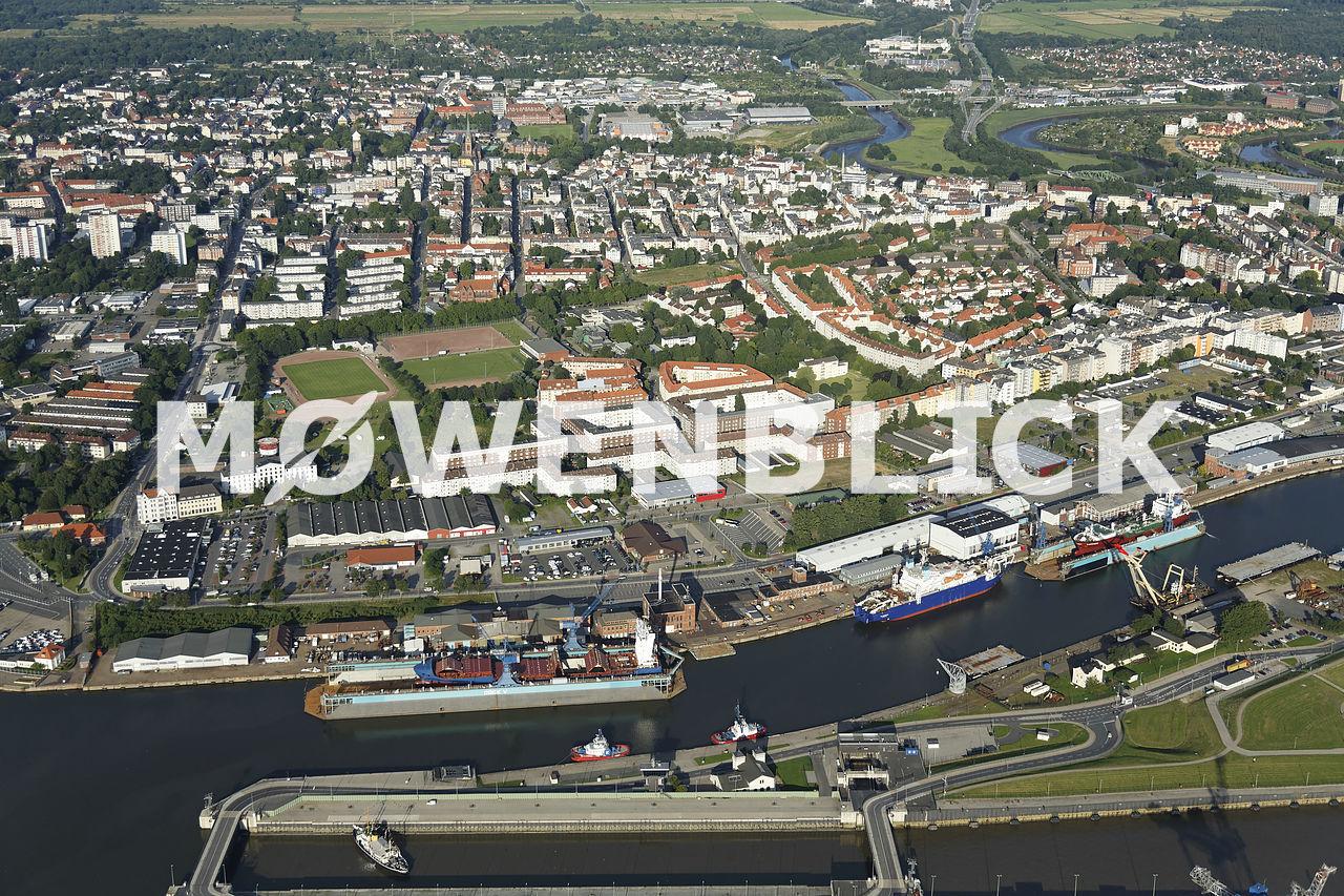 Kaiserhafen Luftbild