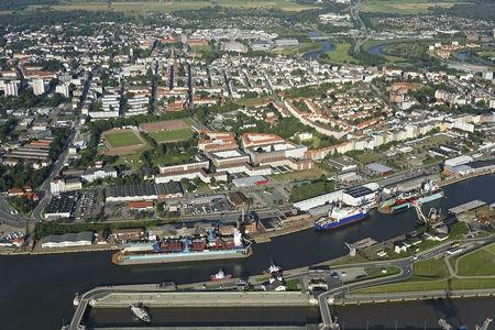 Luftaufnahme Kaiserhafen