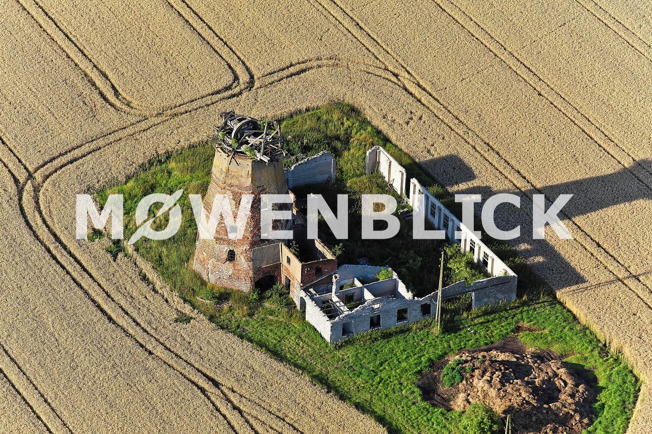 Windmühlenruine Luftbild