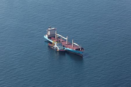 Luftaufnahme Schiff