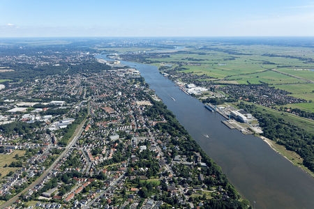 Luftaufnahme Weser