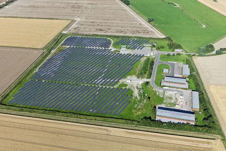 Luftaufnahme Solaranlagen
