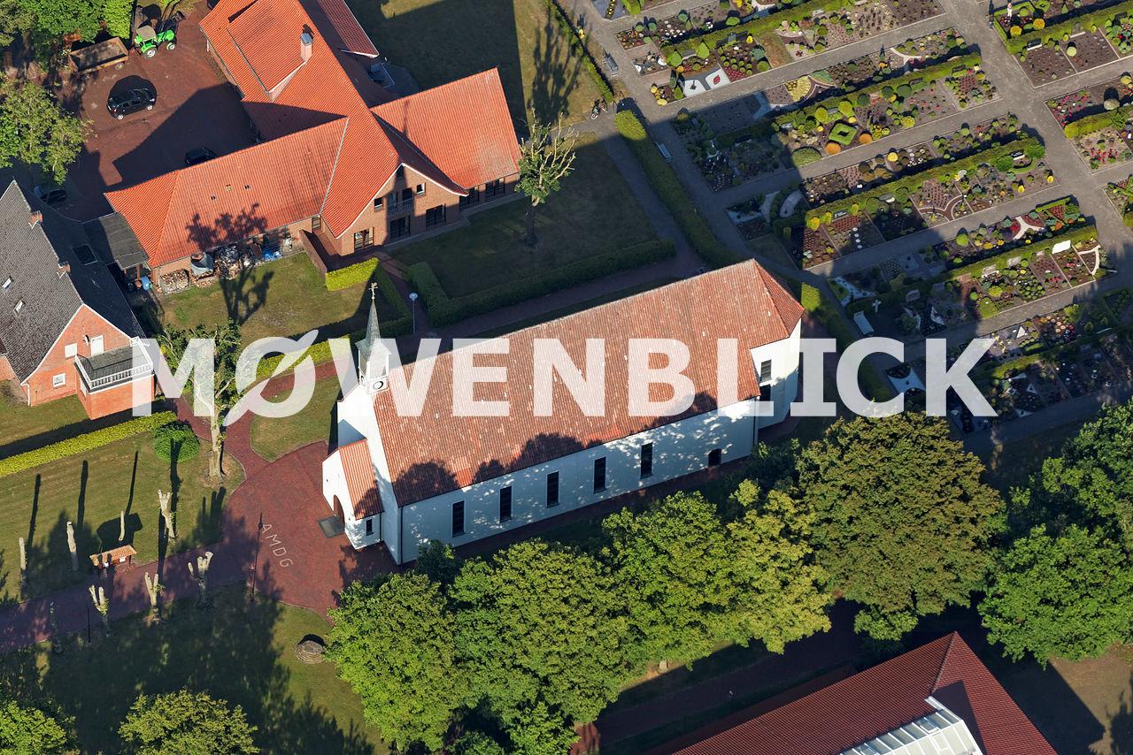 Kirche Petersdorf Luftbild