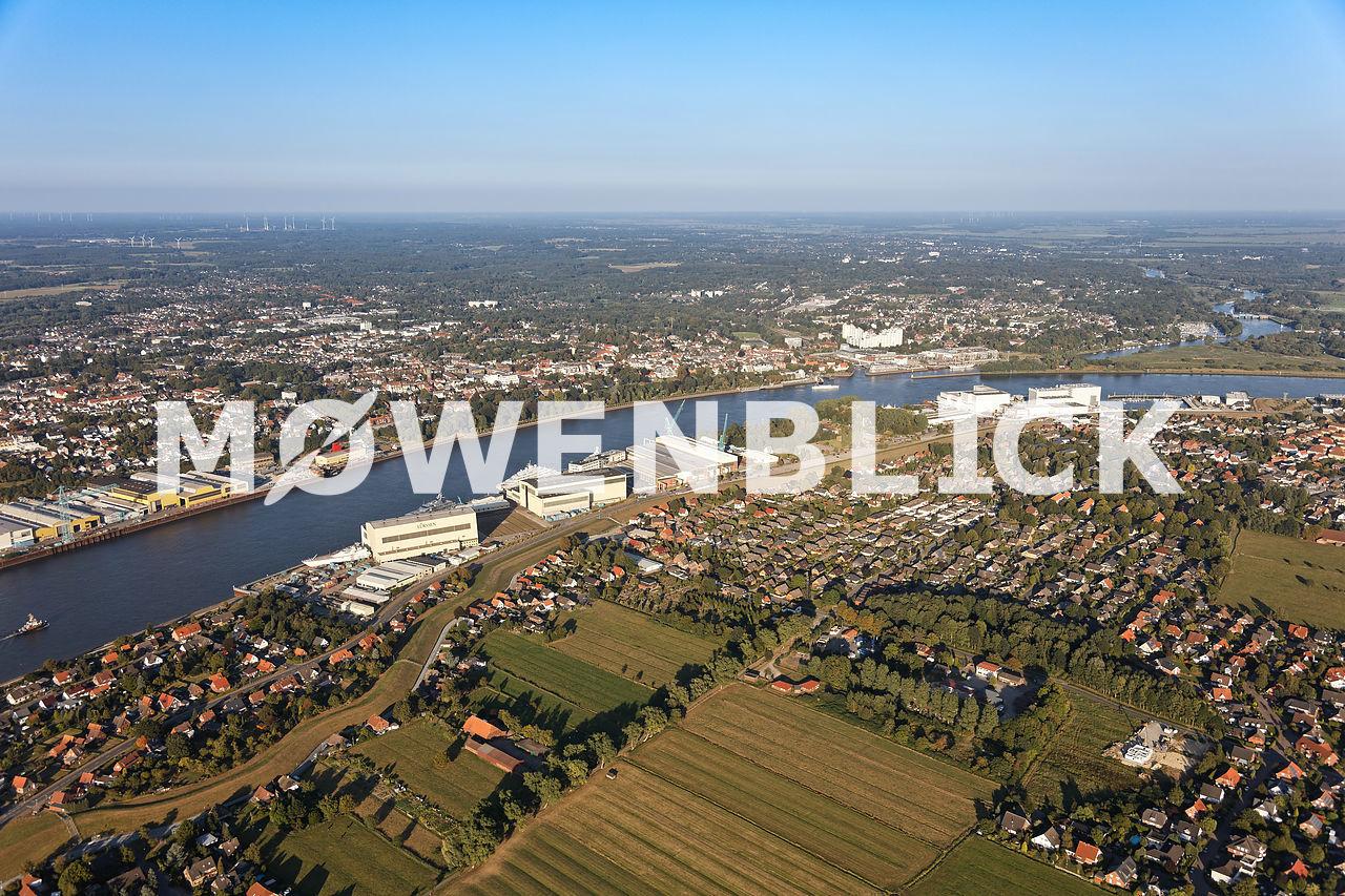 Gewerbegebiet Industriestraße Luftbild