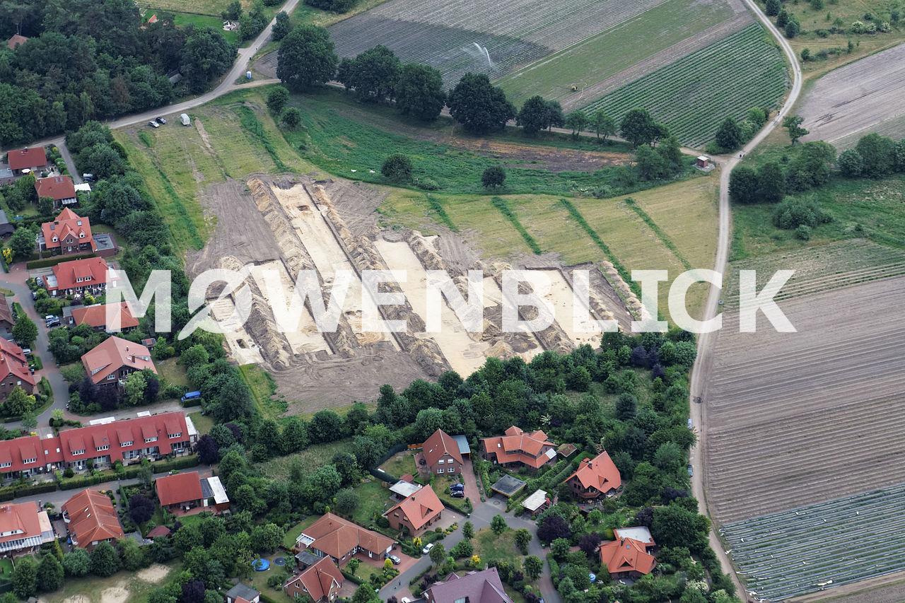 Archäologische Grabungen Luftbild