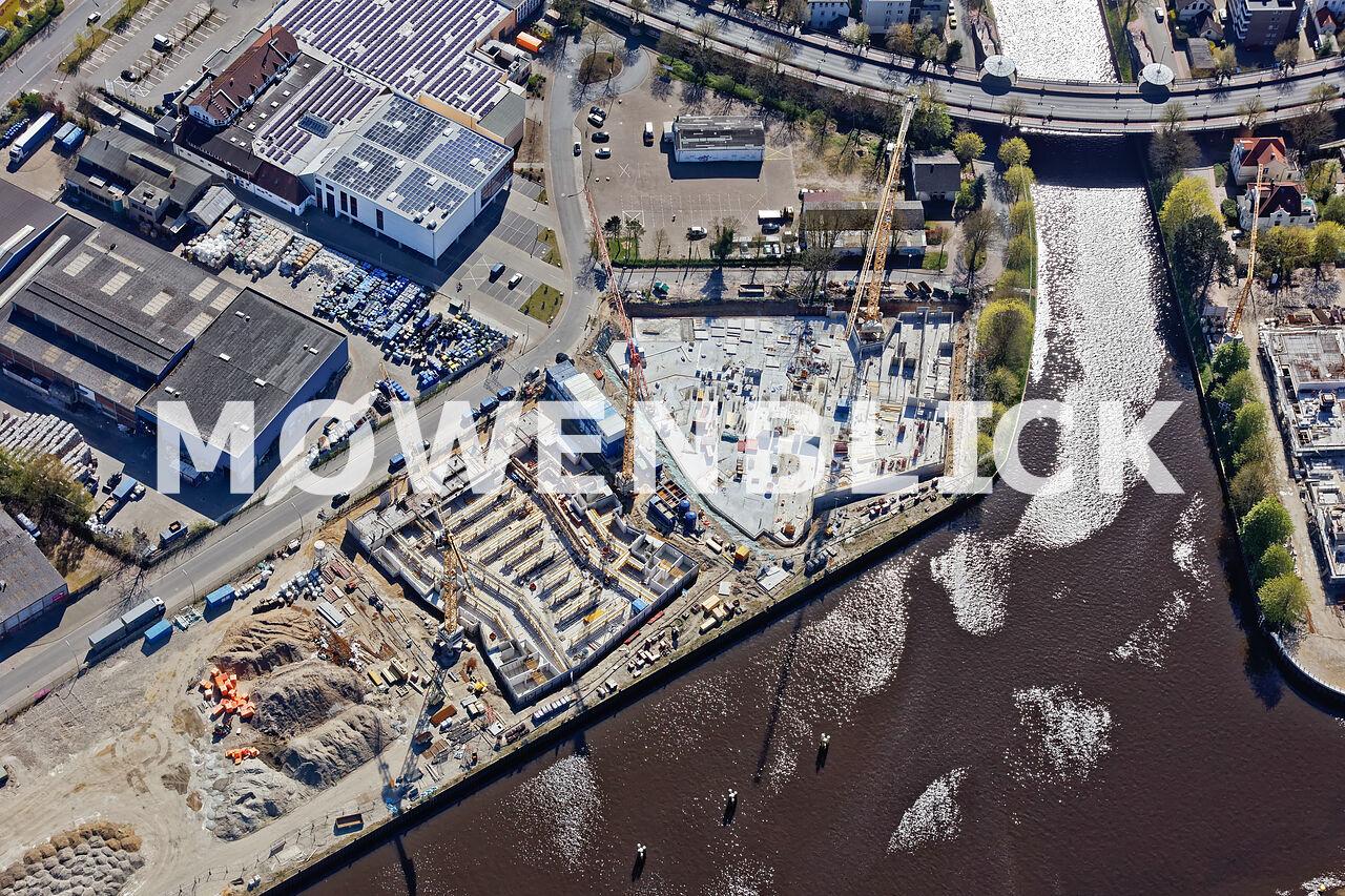 Bauten Hafen Südseite Oldenburg Luftbild