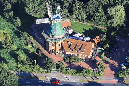 Luftaufnahme Windmühle
