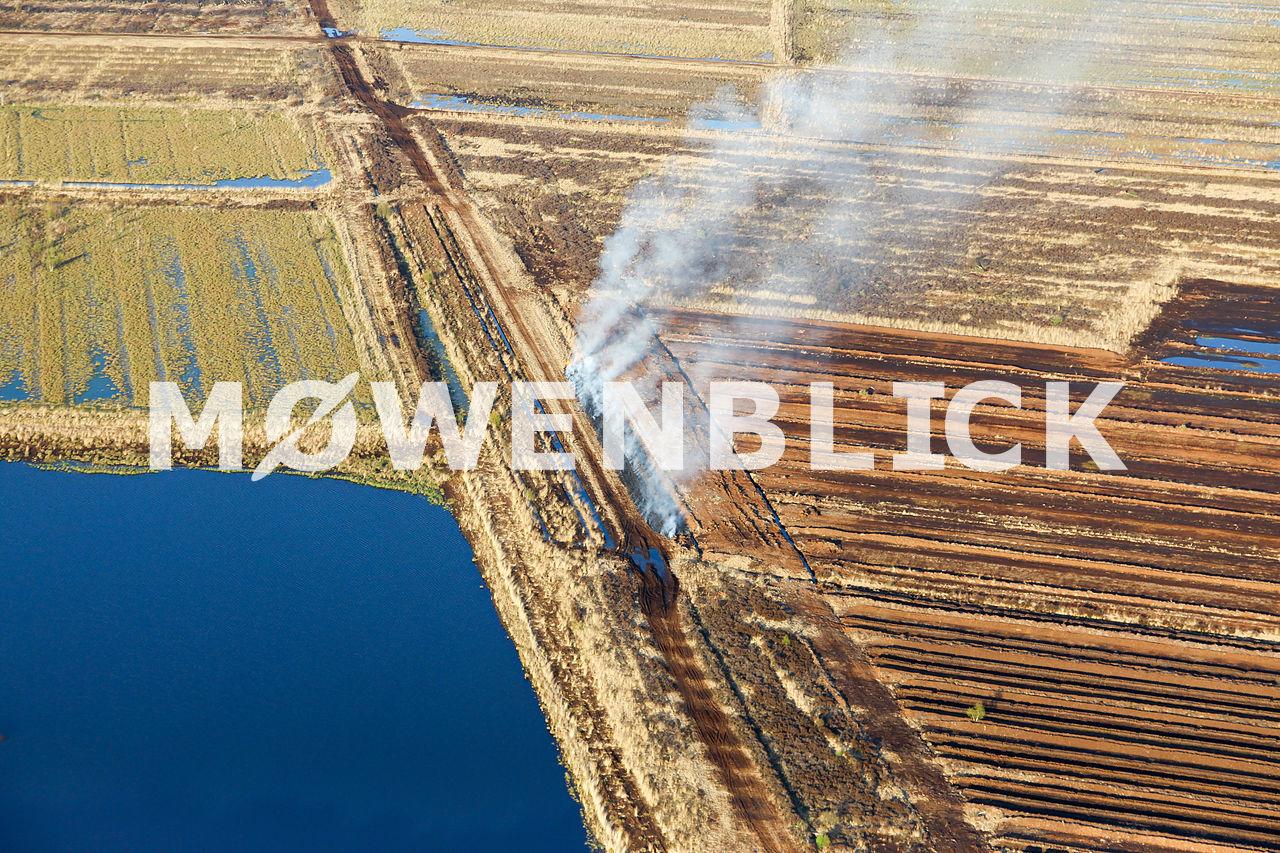 Moorbrand Luftbild