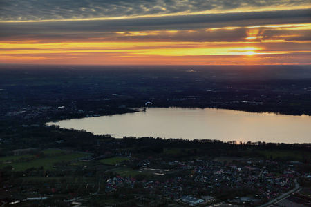 Luftaufnahme Sonnenuntergang