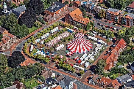 Luftaufnahme Cirkus Paul Busch