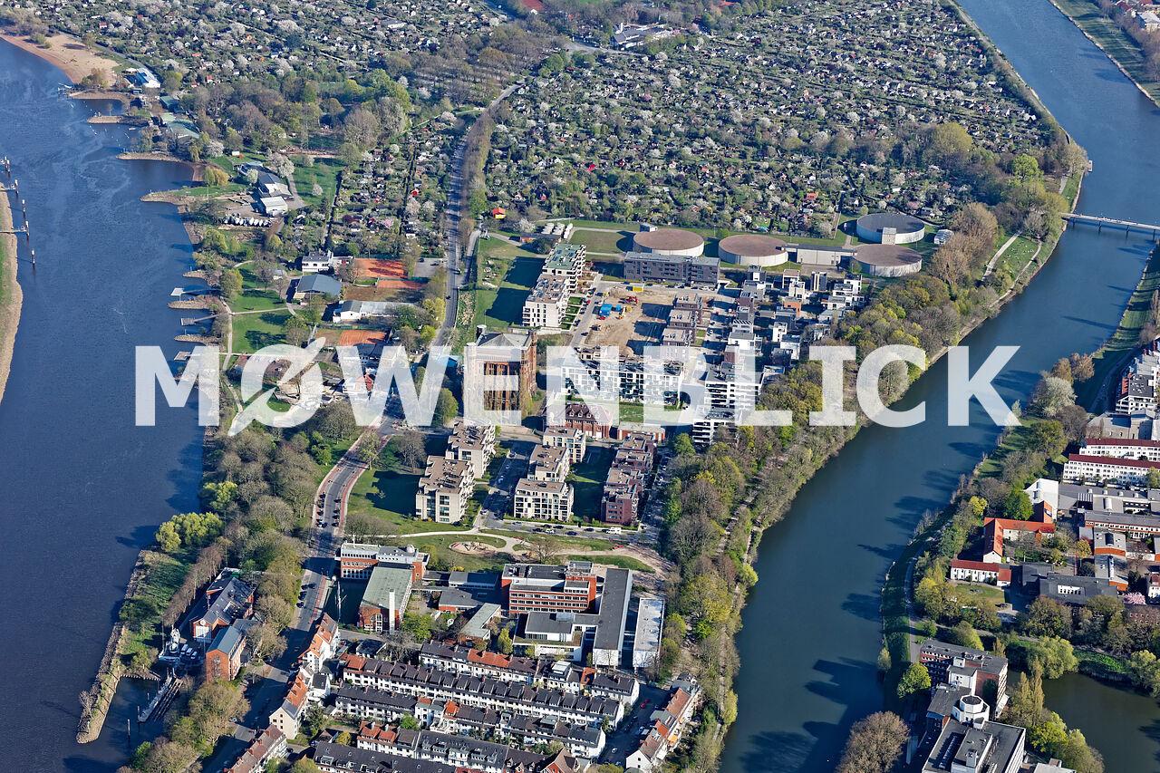 Hinterer Stadtwerder Luftbild
