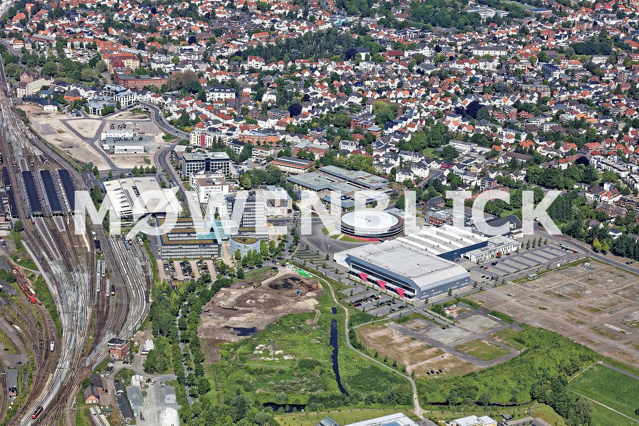 WESER-EMS-Hallen Gelände Luftbild