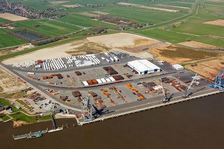 Luftaufnahme Hafen Brake Norderweiterung