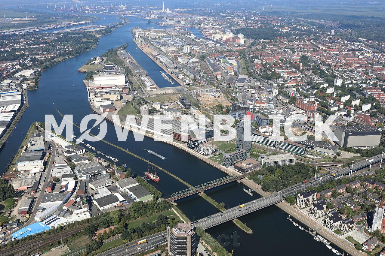 Weserbrücken Luftbild