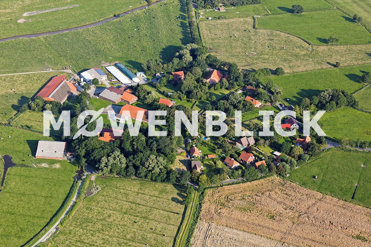Rundort Ziallerns Ostfriesland Luftbild