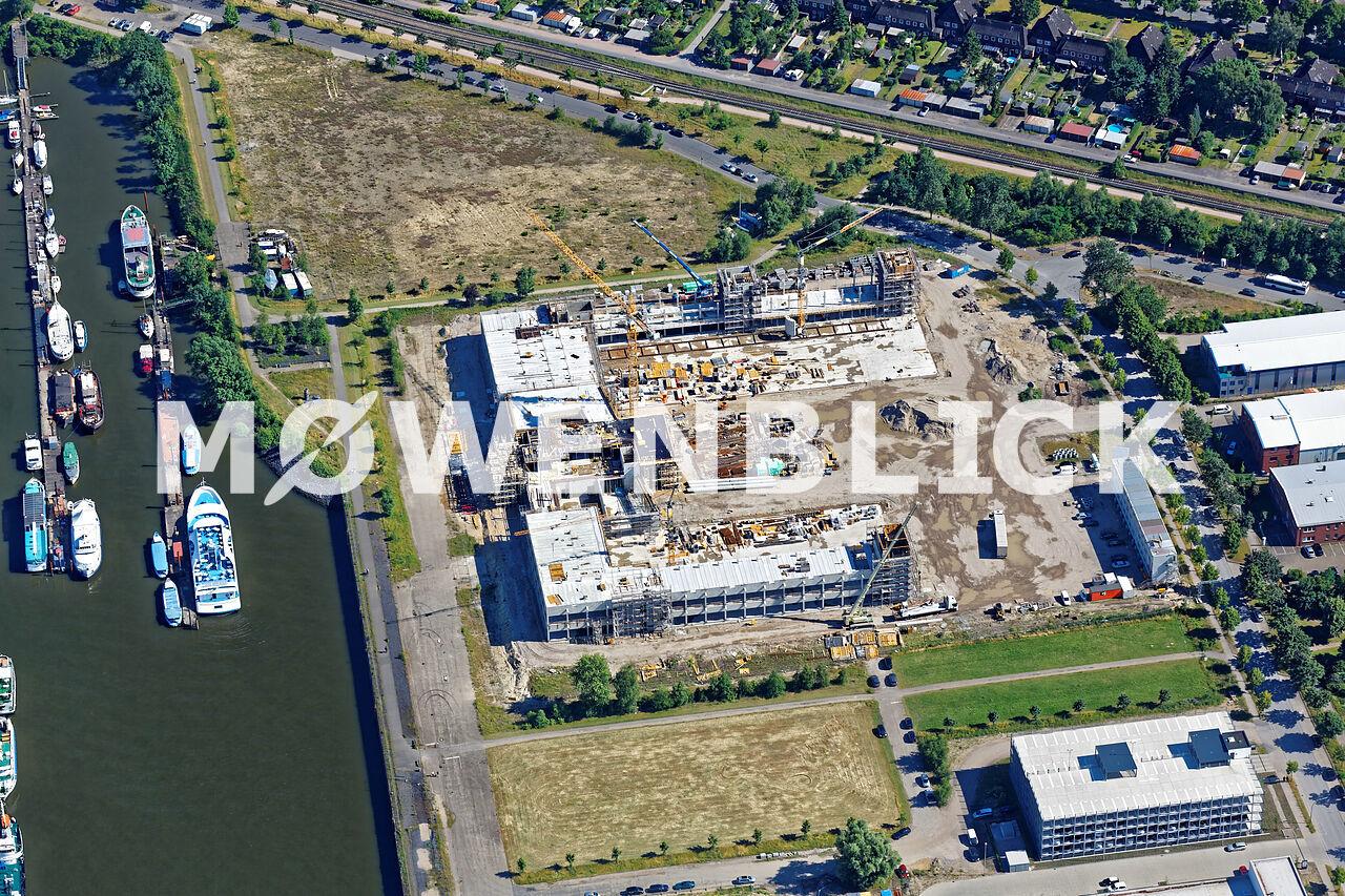 Zentrum für angewandte Luftfahrtforschung Bauphase Luftbild
