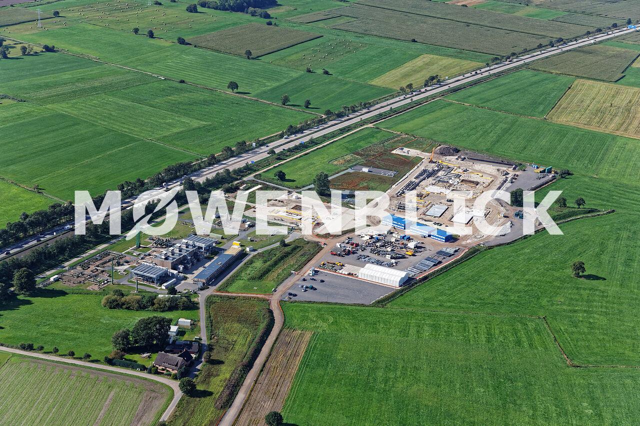 Gasverdichterstation Gasunie Luftbild