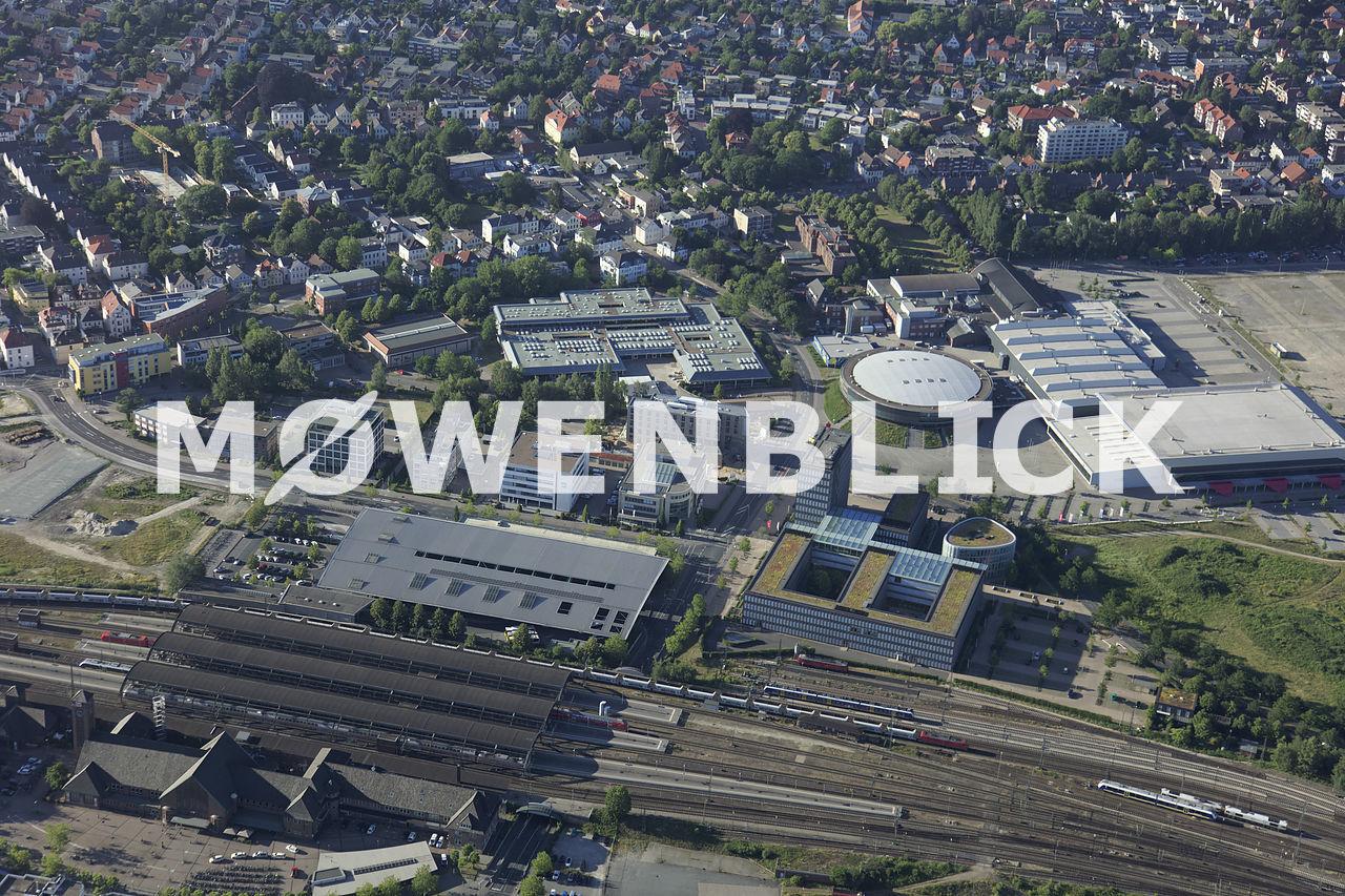 Bahnhof und LzO Luftbild