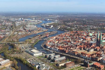 Luftaufnahme Stadt Lübeck