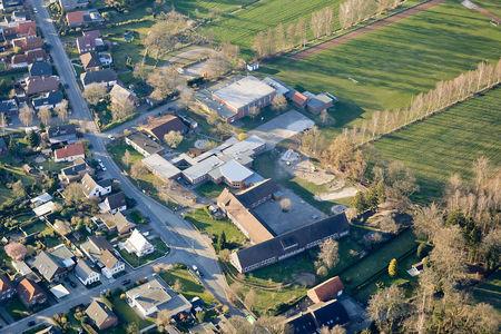 Luftaufnahme Grundschule Langendamm