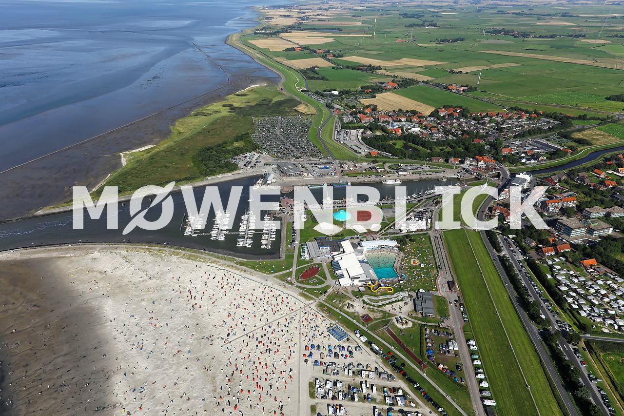 Hafen Bensersiel Luftbild
