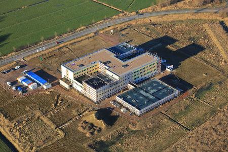 Luftaufnahme Krankenhaus Neubau