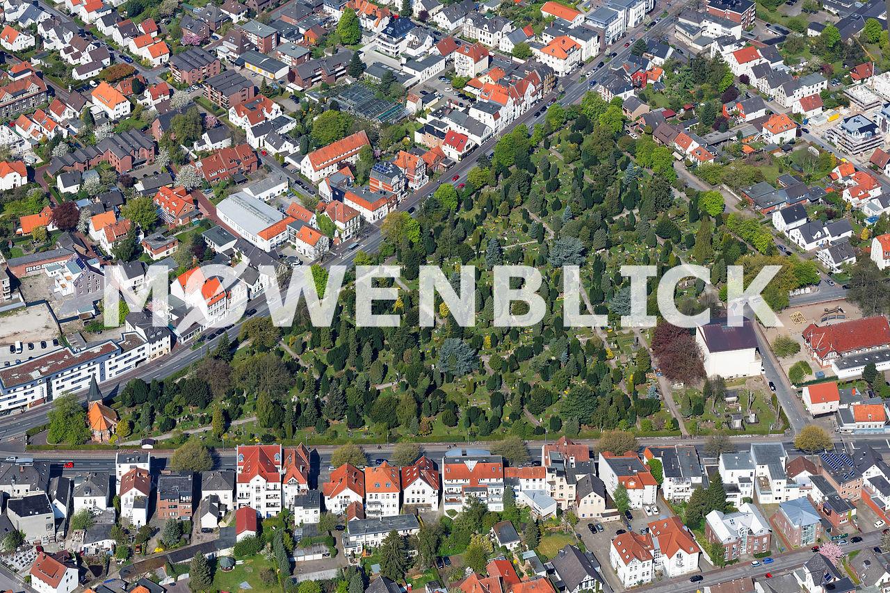 Gertrudenfriedhof Luftbild