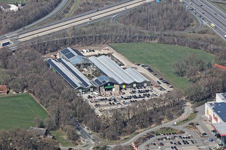 Luftaufnahme Gartencenter