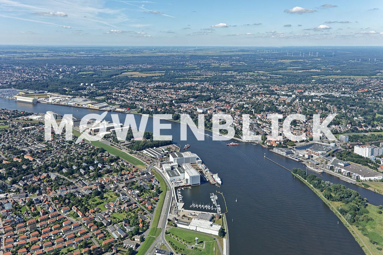 Weser und Lesum Luftbild