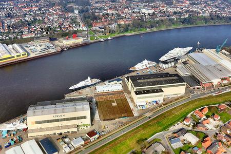 Luftaufnahme Werft