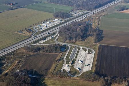 Luftaufnahme Rastplatz Cappeln-Hagelage