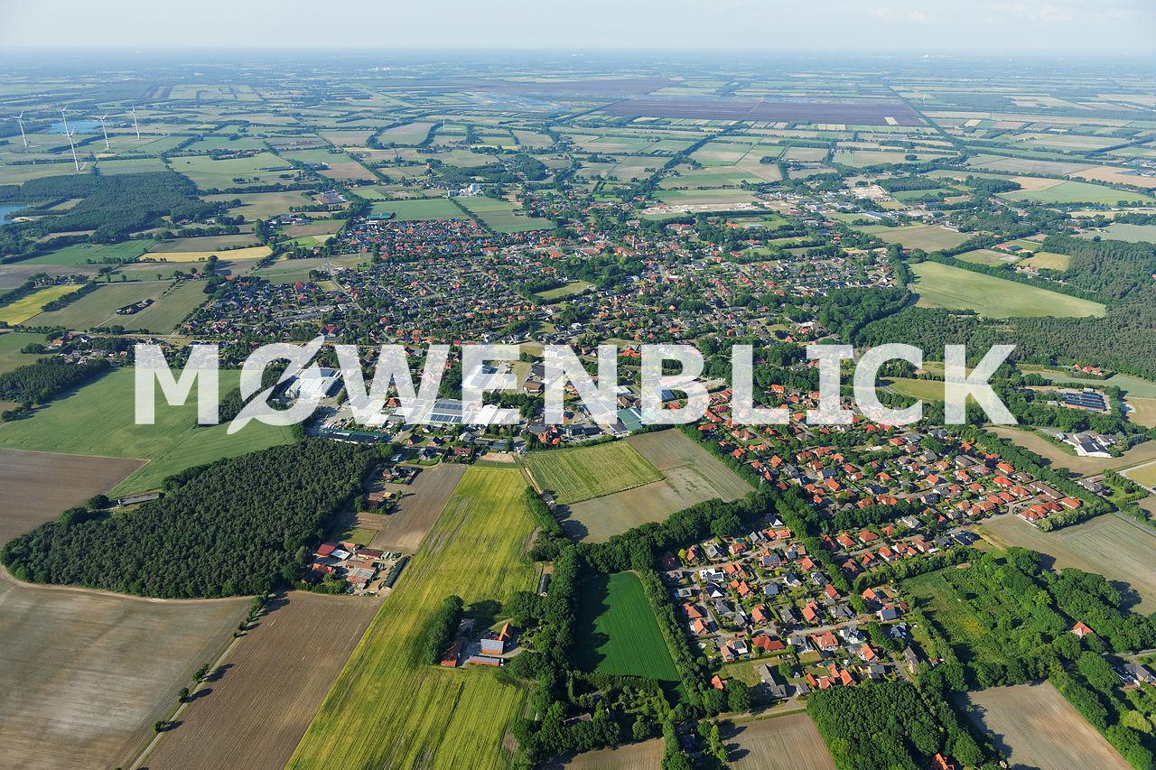 Luftaufnahme der gesamten Stadt Luftbild