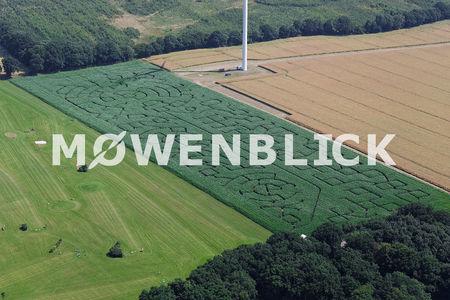 Luftaufnahme Maislabyrinth