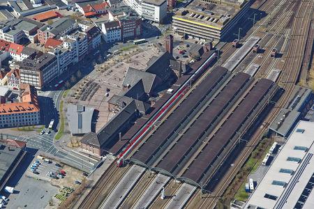 Luftaufnahme Bahnstrecke Oldenburg
