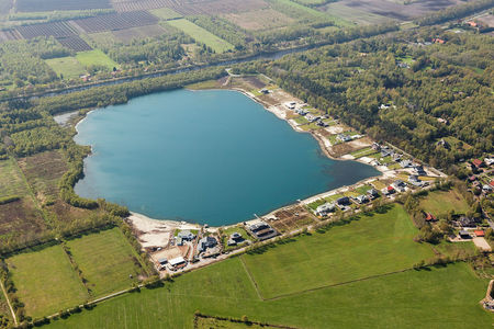 Luftaufnahme Roter Steinweg See