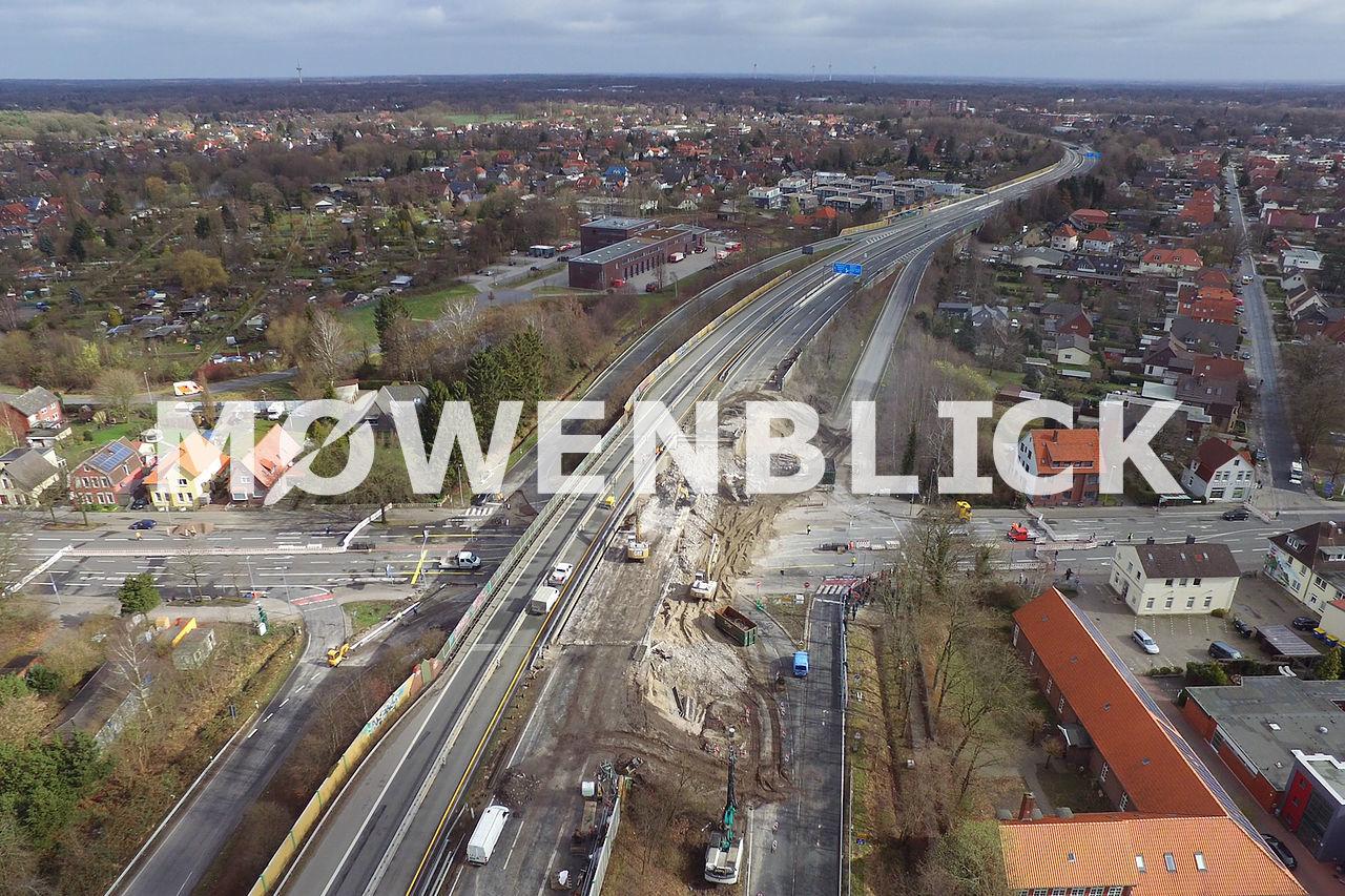 Brückenrückbau Luftbild