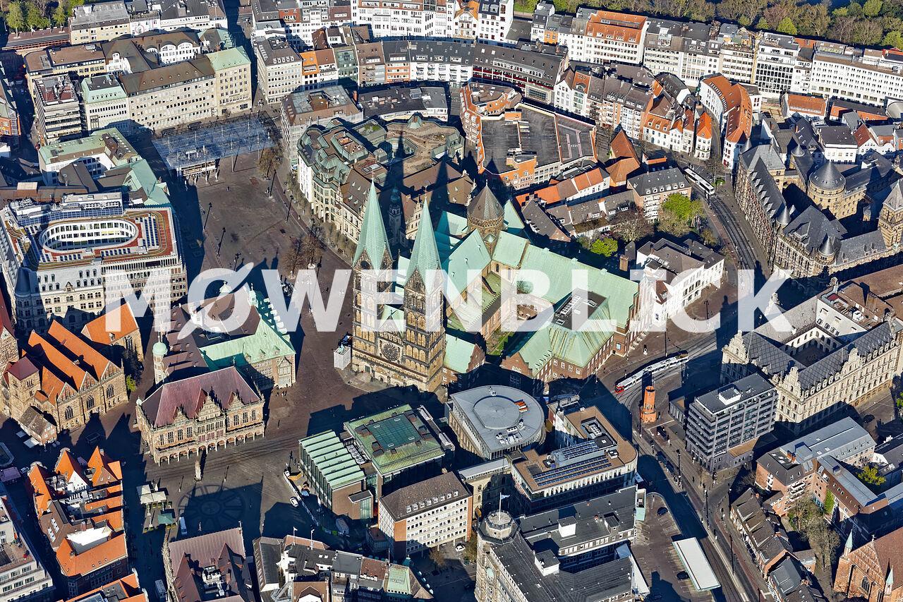 Domshof Dom Bremen Luftbild