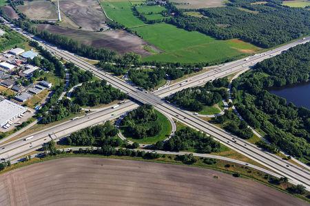 Luftaufnahme Autobahnkreuz