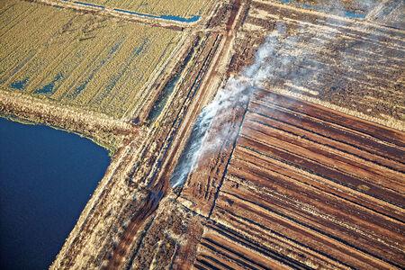 Luftaufnahme Moorbrand