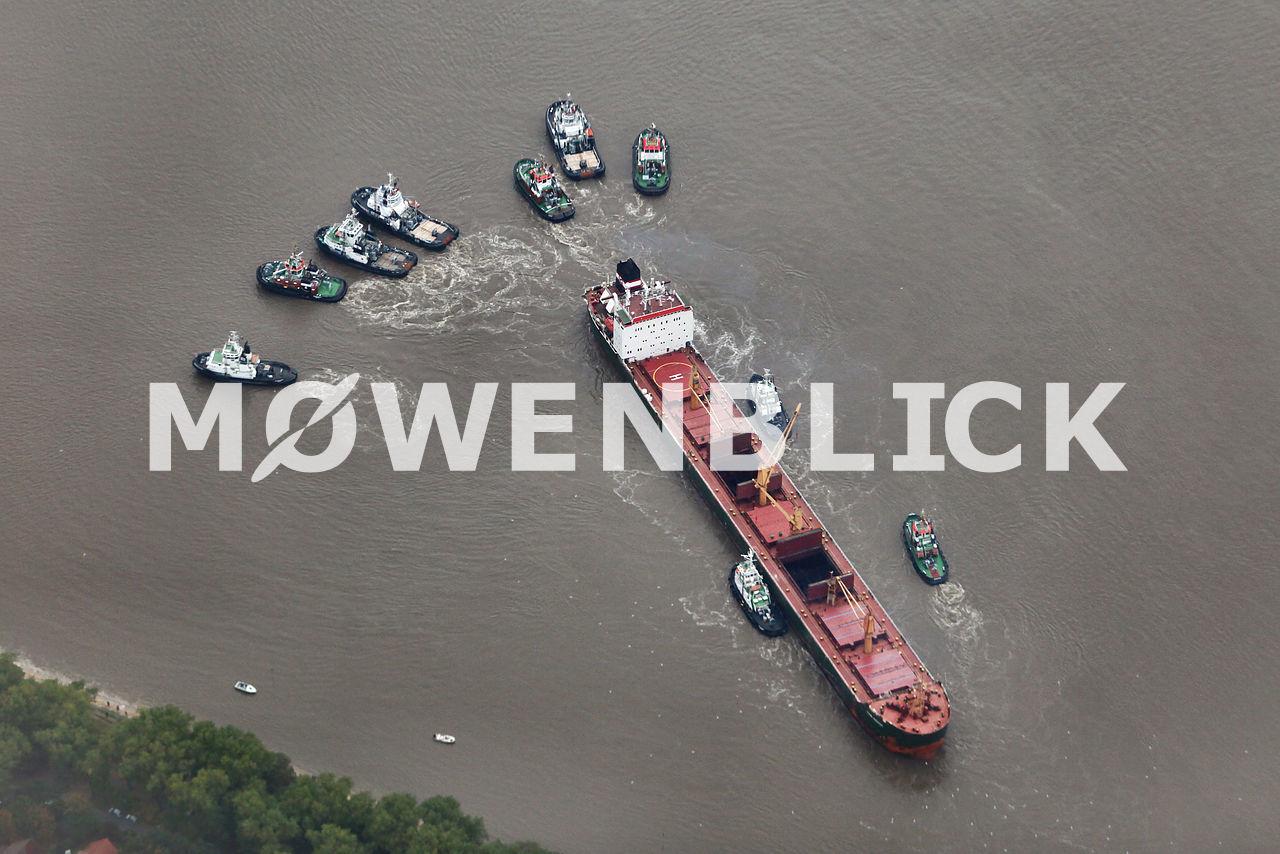 Algoma Discovery auf der Weser Luftbild