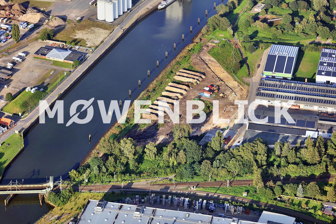 Baustelle Wendebecken Luftbild