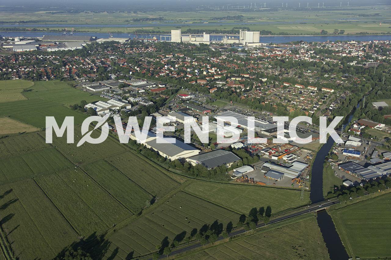 Gewerbegebiet Weserstraße Luftbild