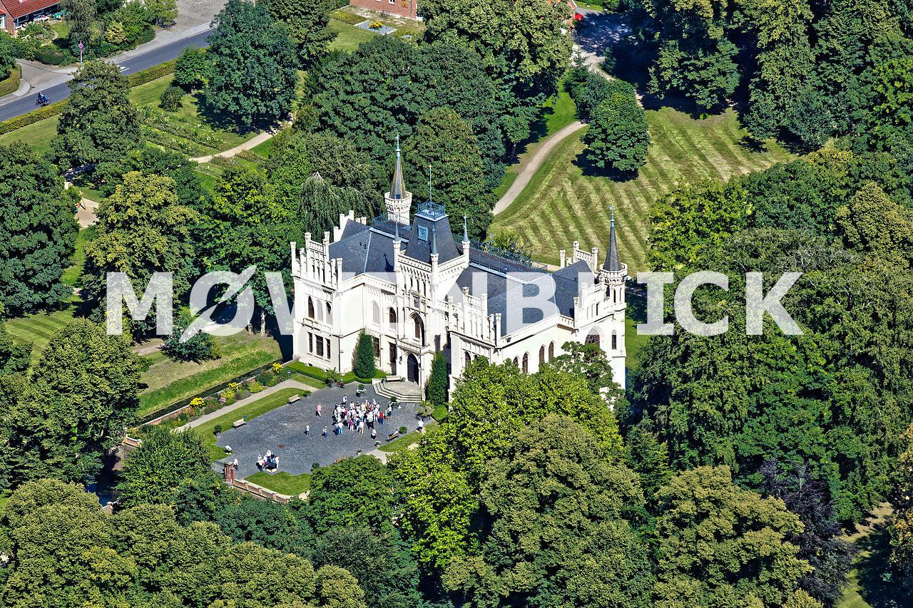 Evenburger Schloss Luftbild