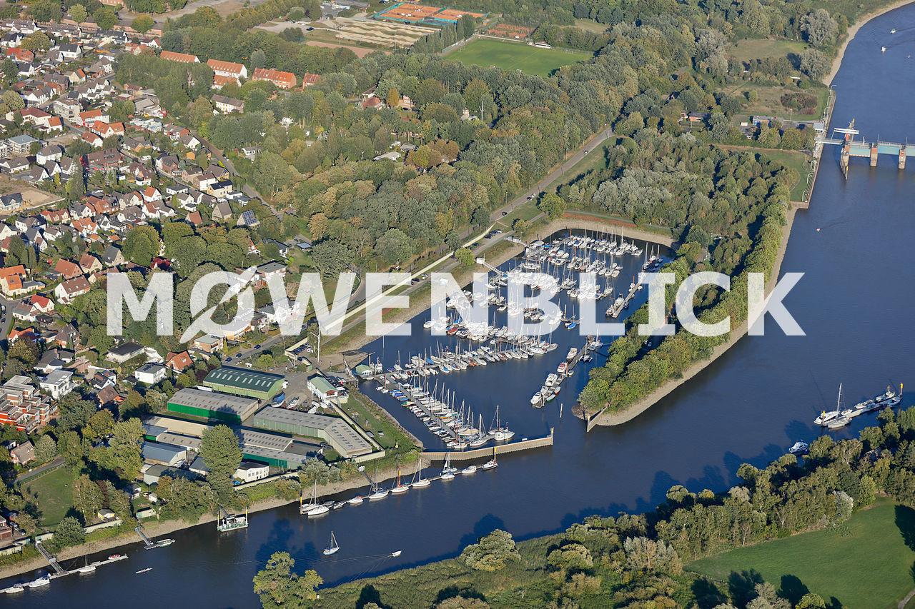 Yachthafen Lesum Luftbild