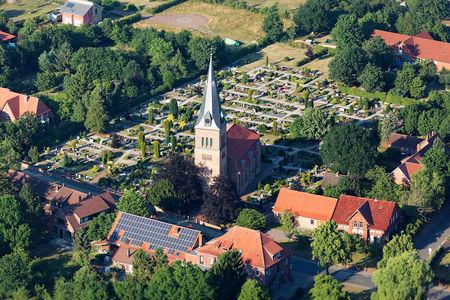 Luftaufnahme Kirche zum guten Hirten Schwarme