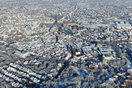 Luftaufnahme Gesamtansicht Innenstadt