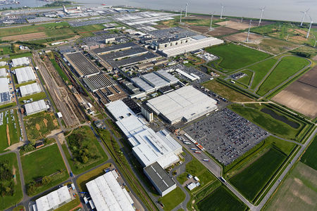 Luftaufnahme Volkswagen