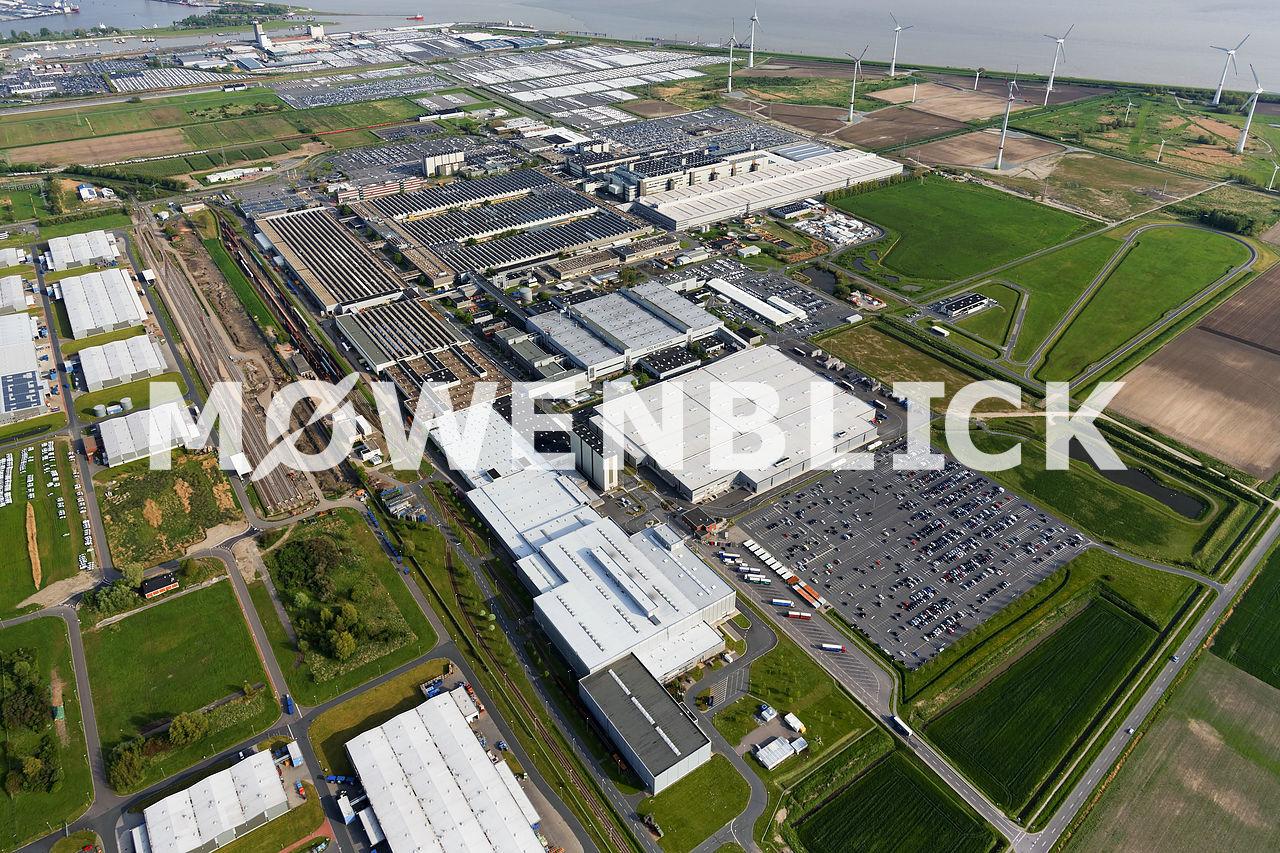 VW Werk Emden Erweiterung Luftbild