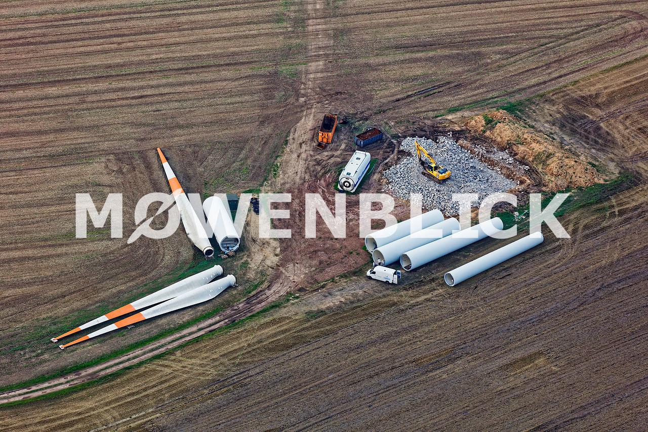 Rückbau Windkraftanlagen Luftbild