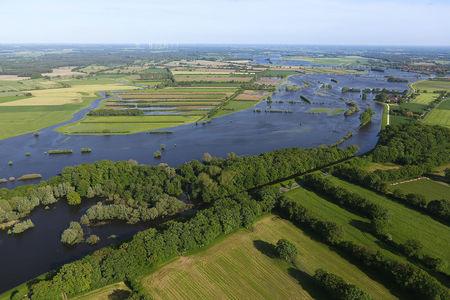 Luftaufnahme Überschwemmung